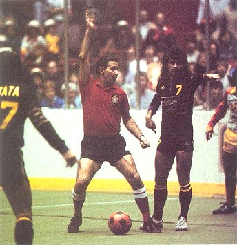The Lazers and MISL ref Joe Rudy